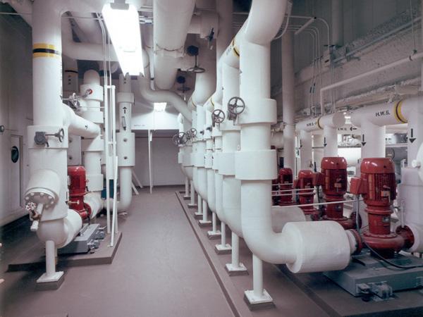 Fiberglass insulation on a hot water application