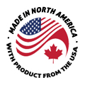 Made in North America, with product from the USA
