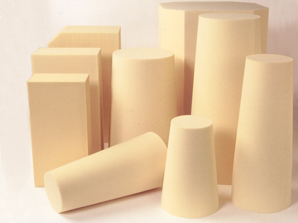 Blocks of various densities of TRYMER used as carving foam
